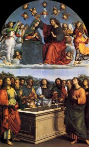The Coronation of the Virgin, from the Oddi Altarpiece - Raphael