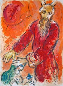 Moses Blesses Joshua - Marc Chagall