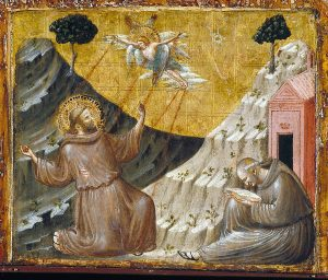 St Francis Receiving the Stigmata - Giotto