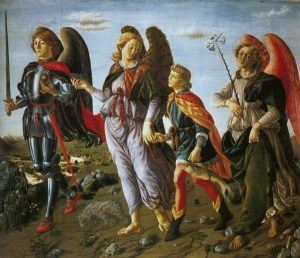 Three Archangels with Tobias - Francesco Botticini