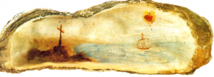 Oyster Shell painted by St Therese of Lisieux