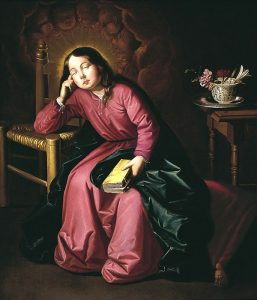 The Child Virgin Asleep - Francisco de Zurbaran