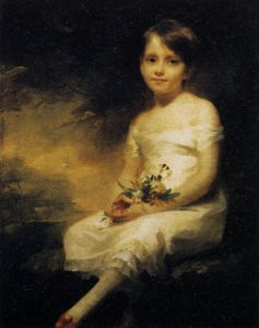 "Henry Raeburn ""Young Girl Holding Flowers"""